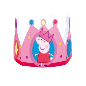 Peppa and George card crowns