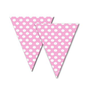 Pink dotty spotty cello cone bags