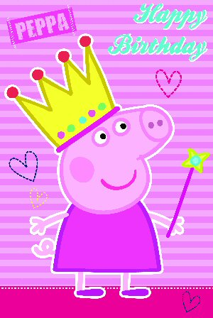 Peppa Pig Happy Birthday Card 177855