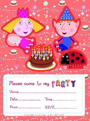 Ben And Hollys Little Kingdom Party Supplies Invites