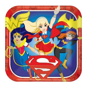 DC Super Hero Girls Square Paper Plates