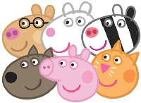Peppa Pig Party Assorted Pack Of Masks