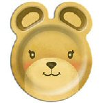 Teddy Bear shaped Party plates