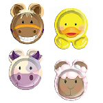 Farmyard party supplies plates 8 assorted  sc 1 st  Party Supplies & Farmyard party supplies
