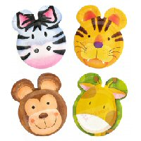 Jungle safari party shaped plates 8s
