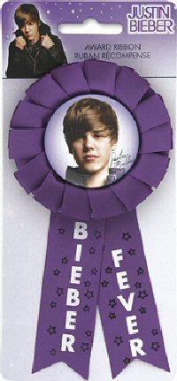 Justin Bieber Party Award Ribbon