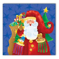 Santa's party napkins Blue