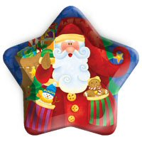 Santa's star shaped party plates