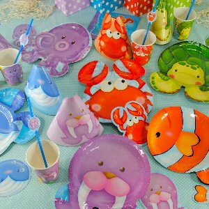 Sealife Shaped Plate Party Supplies